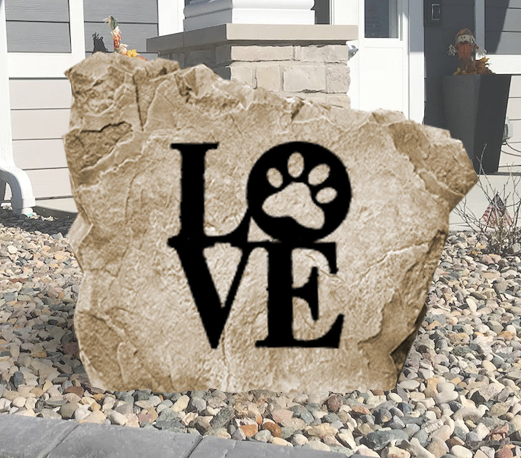 Dog Love Stone-Design A Stone