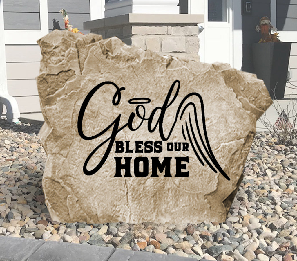 God Bless Our Home Stone-Design A Stone
