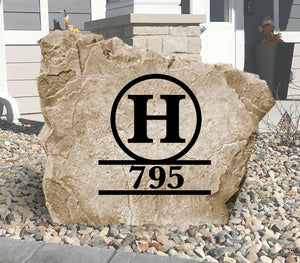 Monogram Address Stone-Design A Stone