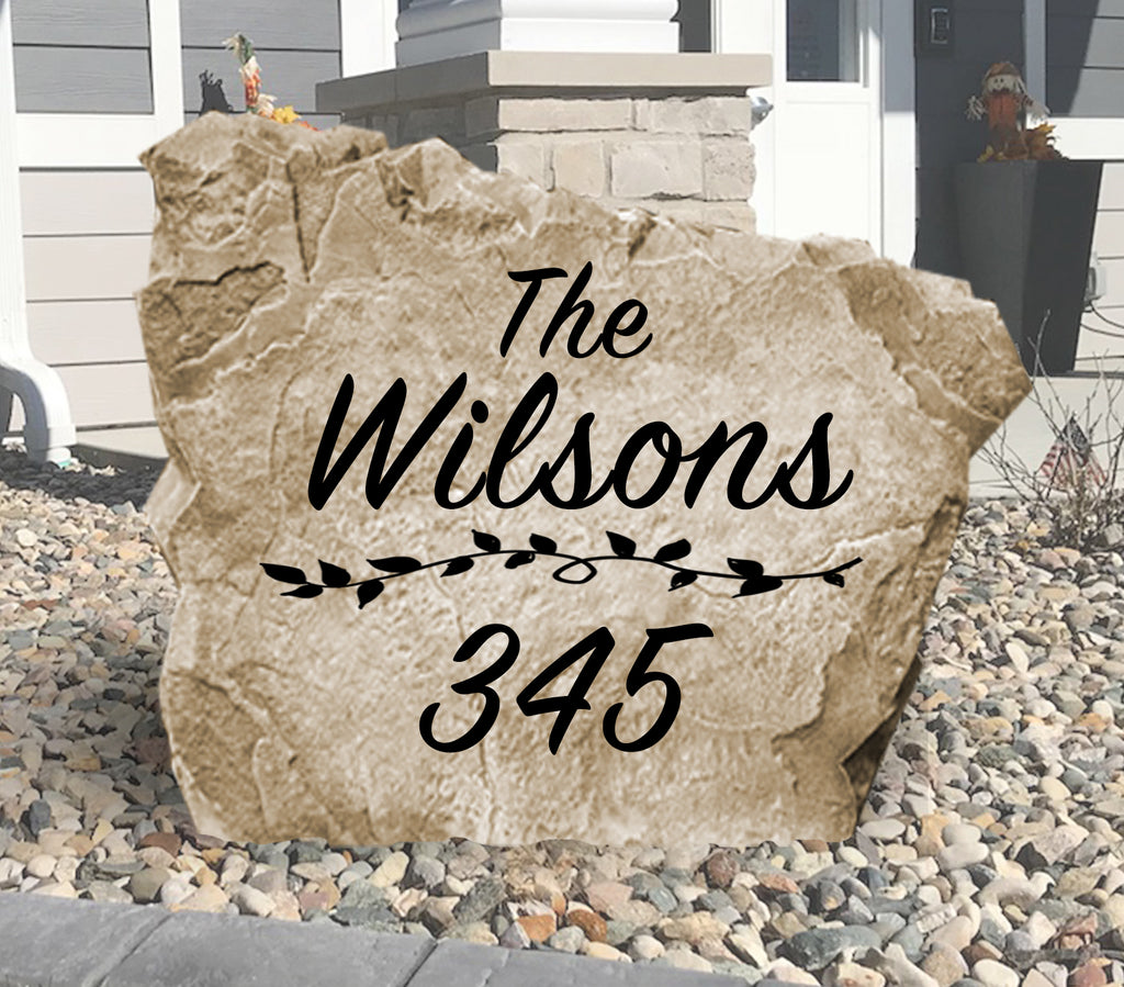 Name and Address Stone-Design A Stone