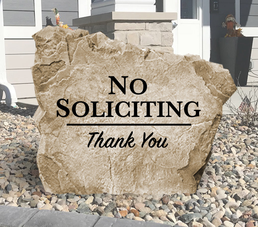 No Soliciting Stone
