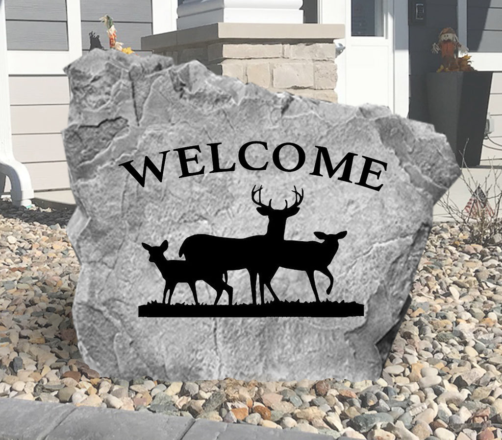 Welcome Deer Stone-Design A Stone