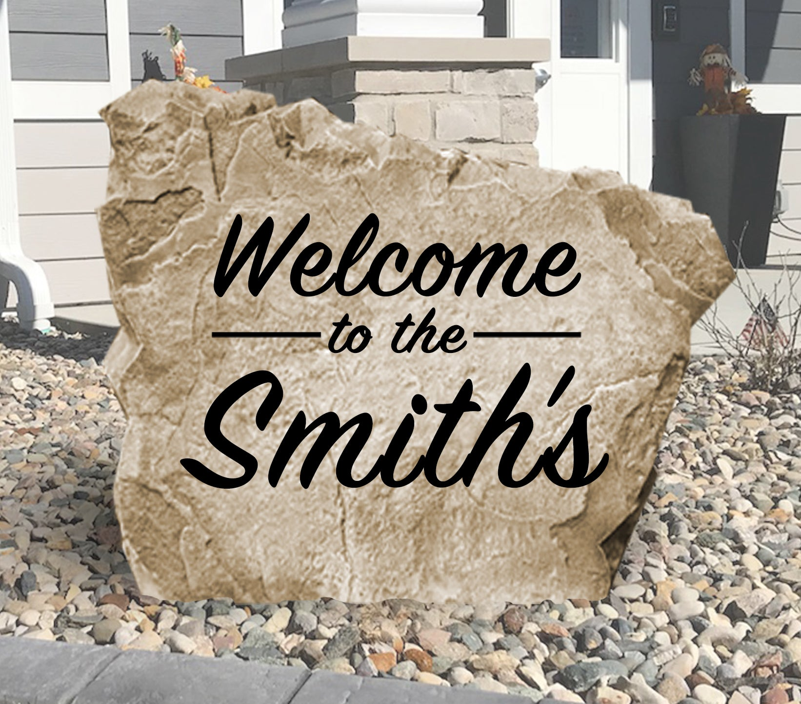 Welcome Name Stone-Design A Stone