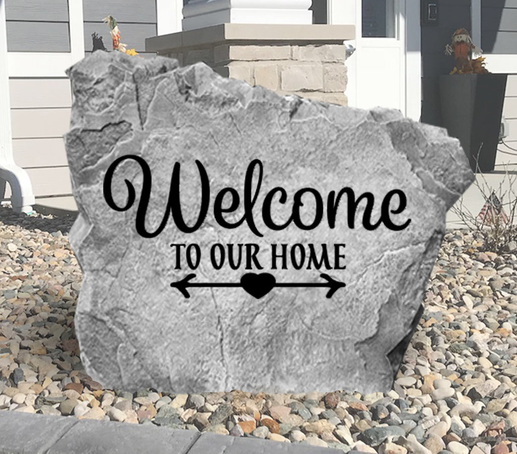 Welcome To Our Home Stone-Design A Stone