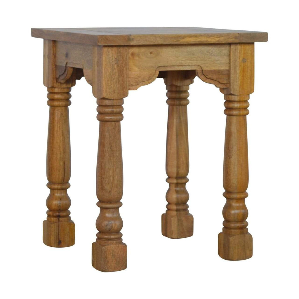 End Table With Turned Legs House Of Isabella Uk