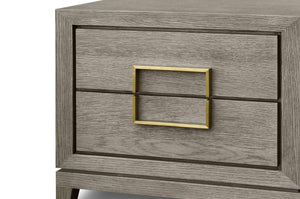 Lucca Bedside Cabinet with 2-Drawers