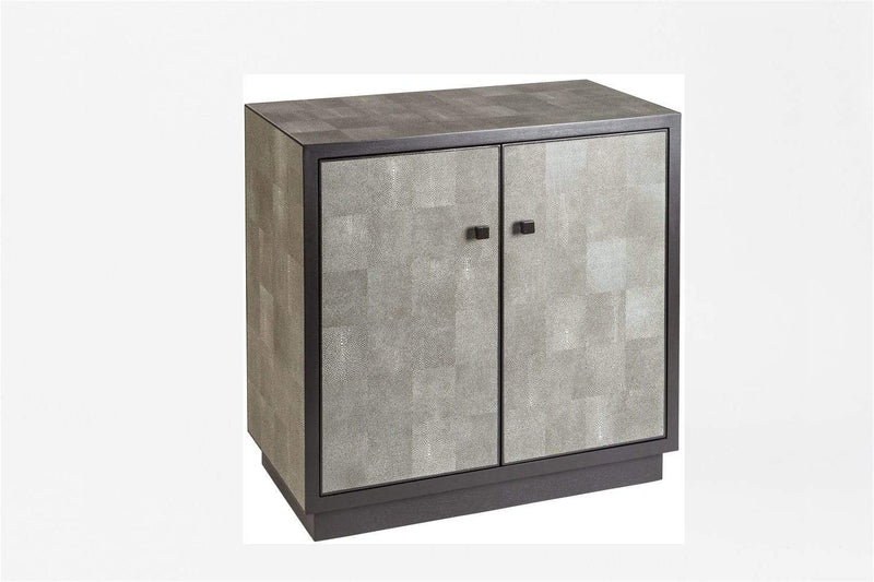 Eccotrading Design London, Cabinet 2 Door Leather Shagreen - House of Isabella UK