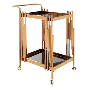 Lilto 2 Tier Trolley with Rose Gold Frame