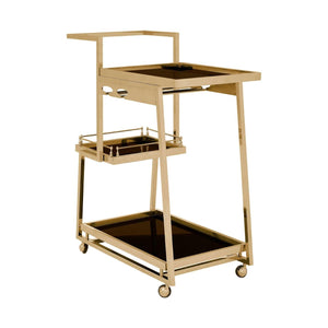 Lilto 3 Tier Gold Finish Trolley