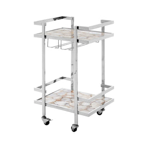 Rolf White Agate Drinks Trolley