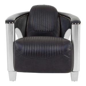 Rolf Black Leather Sofa Chair