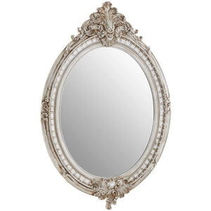 Juliette Champagne Oval Framed Wall Mirror