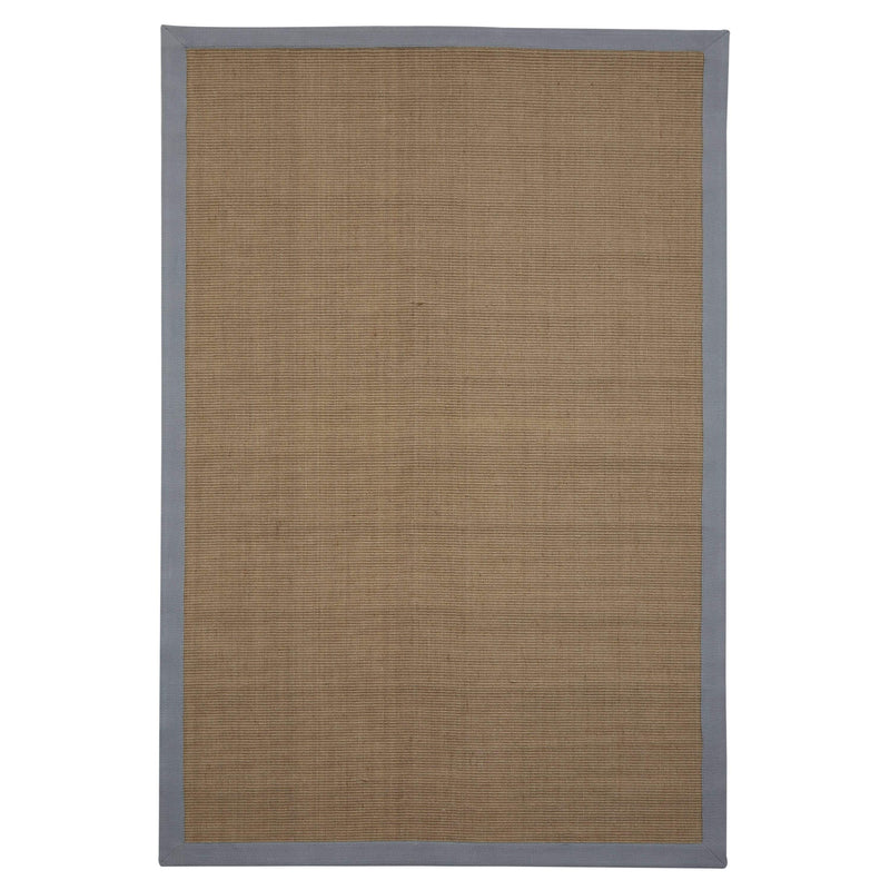 Native, Chelsea Jute Rug with Cotton Grey Border - House of Isabella UK