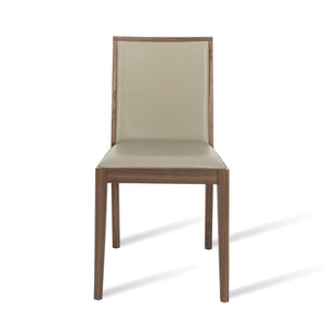 Lotus Dining Chair - Walnut / Stone