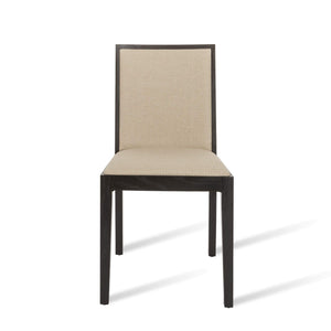 Lotus Dining Chair - Wenge / Beige