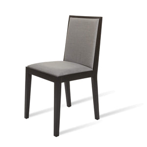 Lotus Dining Chair - Wenge / Grey