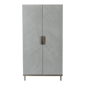 Lilly 2 Door Wardrobe - Grey Chevron 1