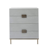 Twenty10 Designs, Lilly 4 Drawer Chest - Grey Chevron - House of Isabella UK