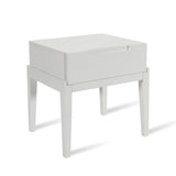 Orchid 1 Drawer Bedside - White - House of Isabella UK
