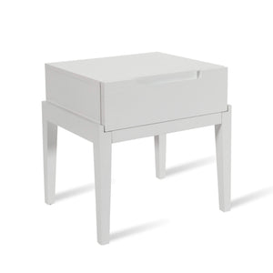 Orchid 1 Drawer Bedside - White