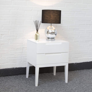 Orchid 2 Drawer Bedside - White