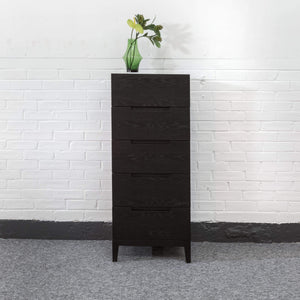 Orchid 5 Drawer Narrrow Chest - Wenge
