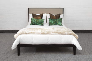 Orchid King size Bed - Wenge / Beige