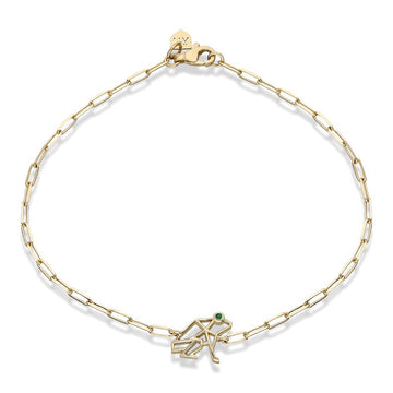 "Mini ""Keko"" Chain Bracelet with Diamond Eye"