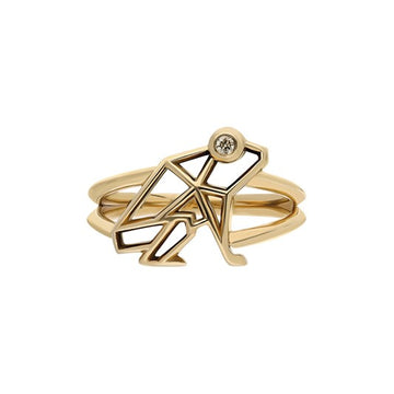 """Keko"" Coquí Cutout Ring - Champagne Diamond Eye"