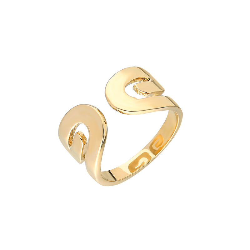 """Txirimiri"" Wide Cuff Ring"