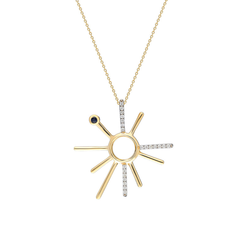 ¡Buenos Días! Yellow Gold and White Diamond Necklace