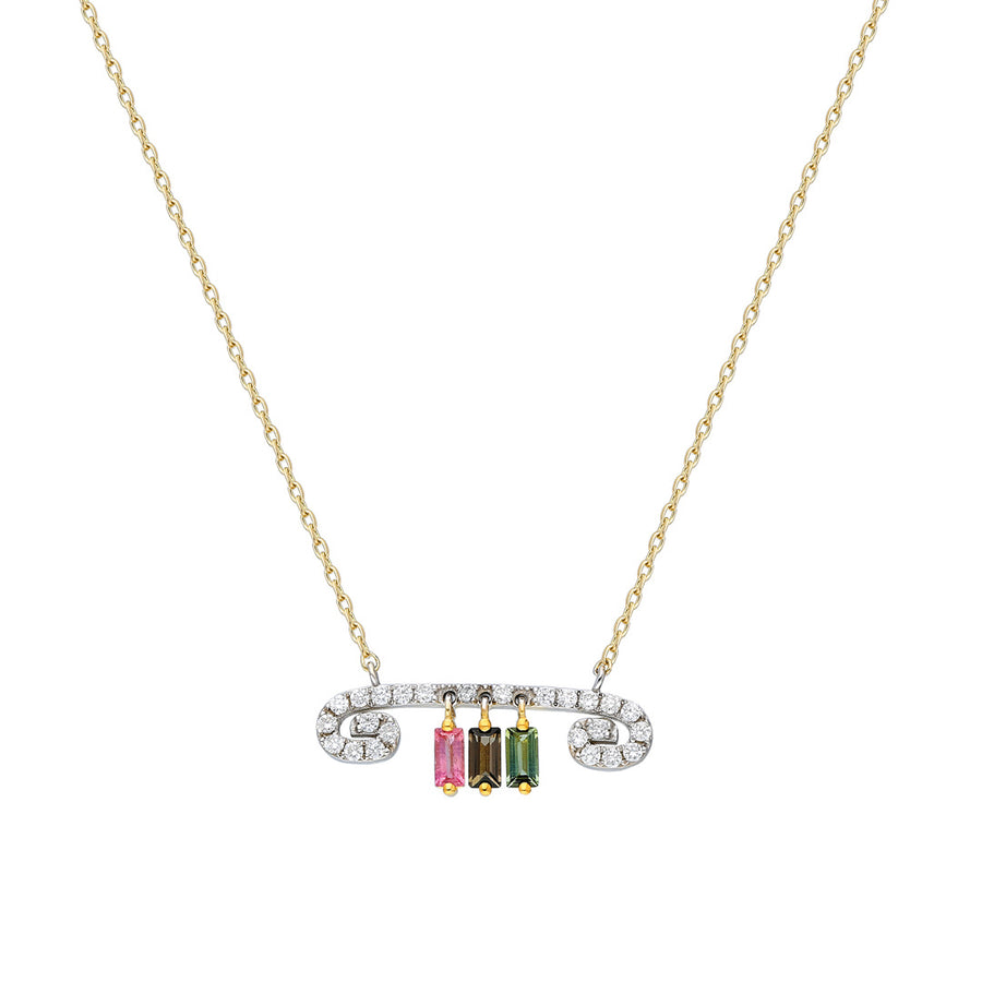 """Txirimiri"" Diamond and Tourmaline Necklace"
