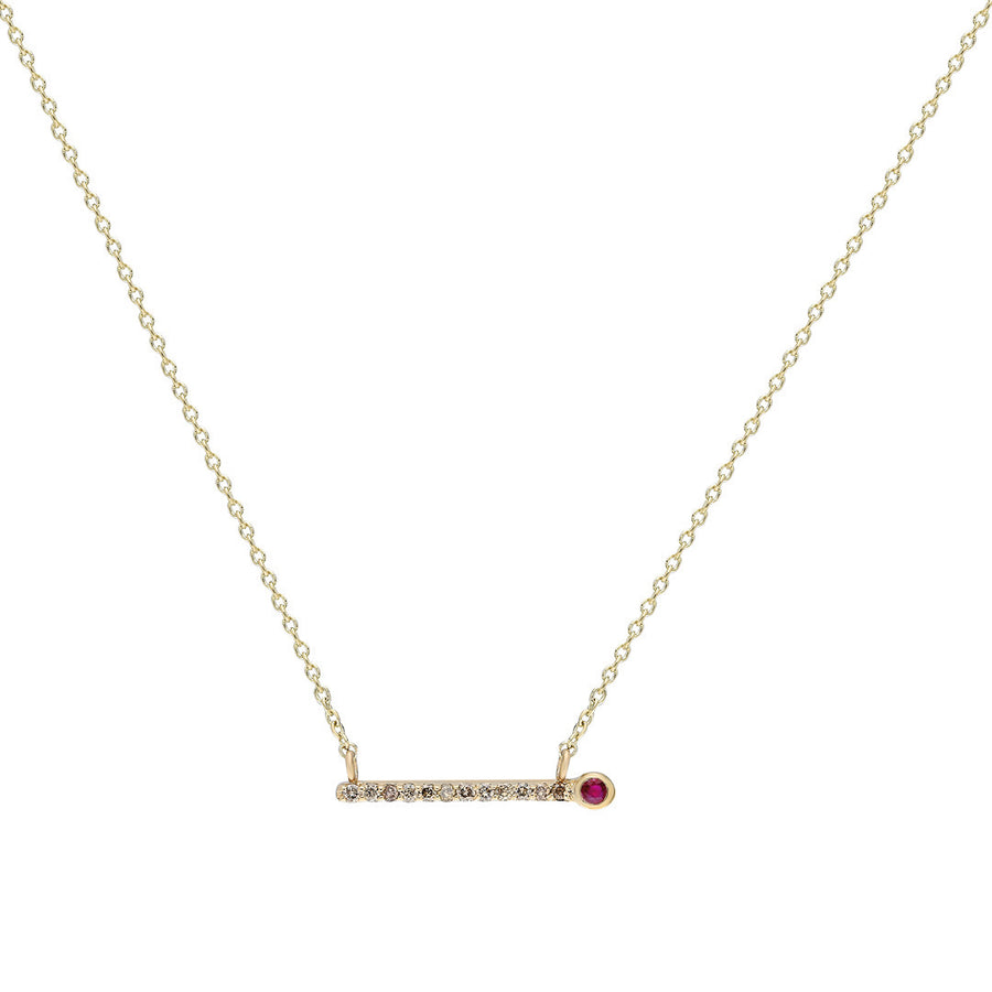 ¡Buenos Días! Ray Necklace - Champagne Diamonds and Ruby