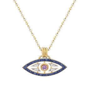 """Macu"" Caribbean Eye Pendant - Sapphires and Diamonds"