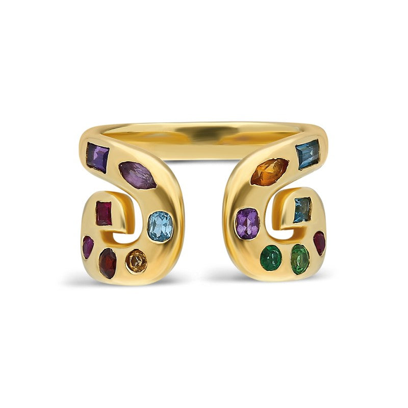 "Txirimiri ""Carnaval"" Multi-Gemstone Ring"