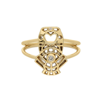 """Atabex"" Mini Cutout Ring - Diamond Wind"