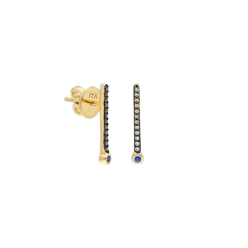 ¡Buenos Días! Small Cognac Diamond Ray Earring