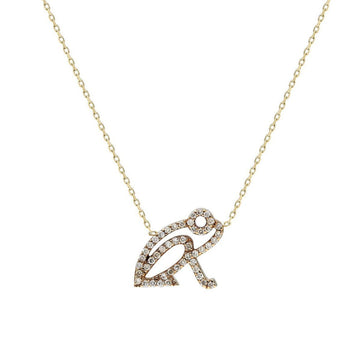 """Kiki"" Champagne Diamond Coquí Necklace"
