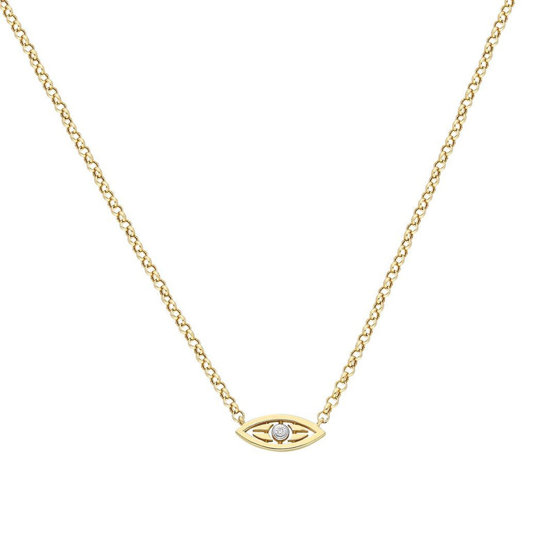 """Mini Macu"" Yellow Gold Necklace"