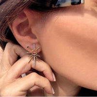 ¡Buenos Días! White Diamond and Sapphire Ear Jacket