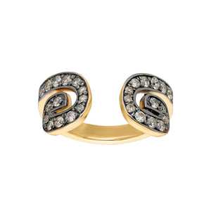"""Txirimiri"" Champagne Diamond Bling Ring - Cave"