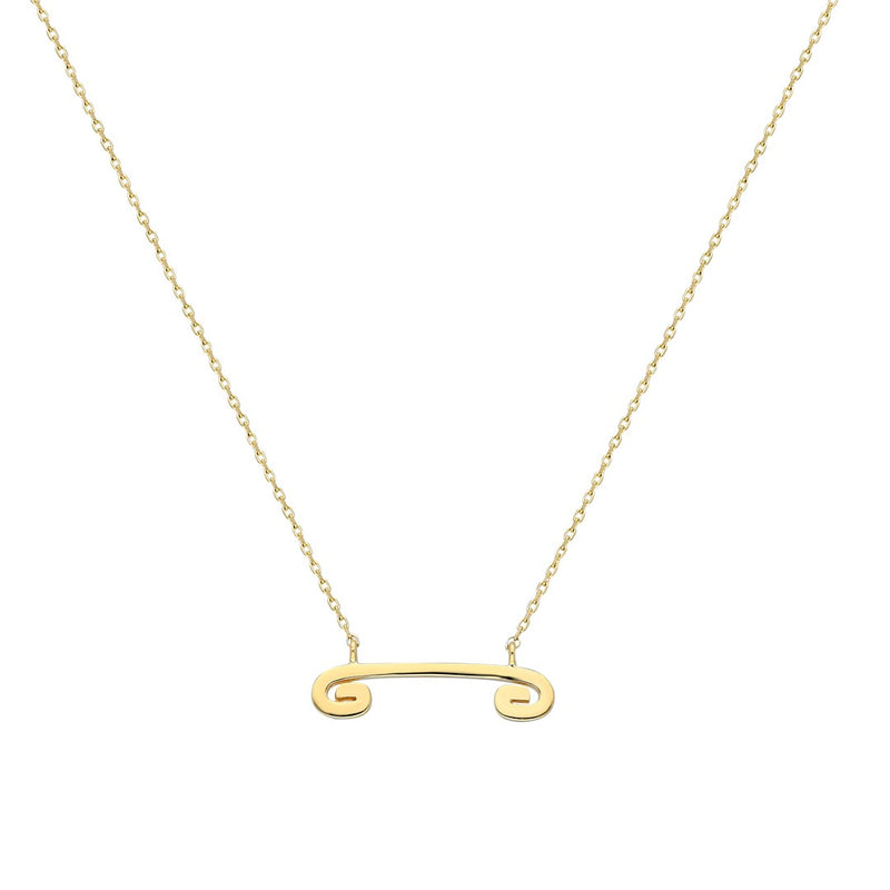 """Txirimiri"" Solid Gold Small Pendant Necklace"