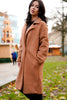 Tan Oversized Teddy Coat