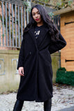 Black Oversized Teddy Jacket
