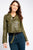 Biker Crop Jacket Khaki