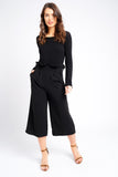 Black Wide Leg culottes
