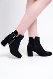 Block Ankle Buckle Boots