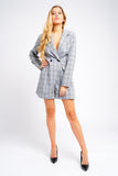 Check Blazer Playsuit