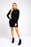 Black Knitted Jumper Dress