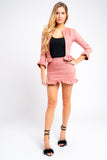 Suede Frill Co-ord Jacket